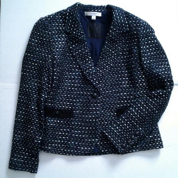 Liz Claiborne Jackets & Blazers - Blue Tweed Jacket Liz Claiborne size 14